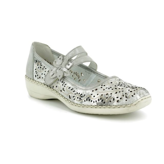 Rieker Comfort Shoes - Silver - 41372-80 DORISBAR