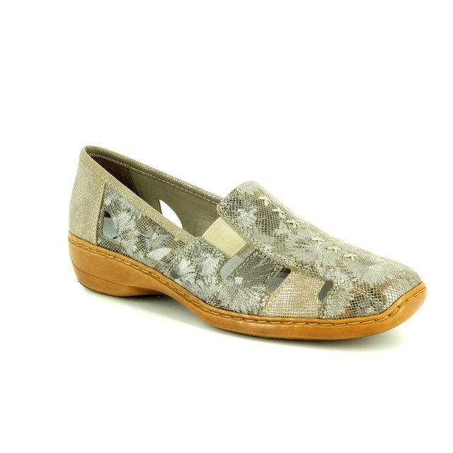Rieker Comfort Shoes - Taupe multi - 41385-91 DORIC