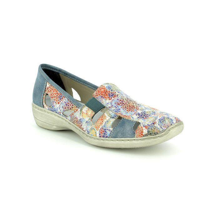 Rieker Lacing Shoes - Floral print - 41385-92 DORIC 81