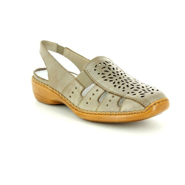 Rieker Comfort Shoes - Light taupe - 41390-62 DORISLING
