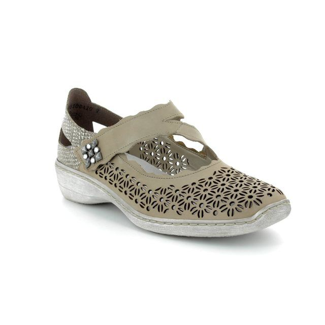 Rieker Mary Jane Shoes - Light taupe - 413G4-42 DORISCAL