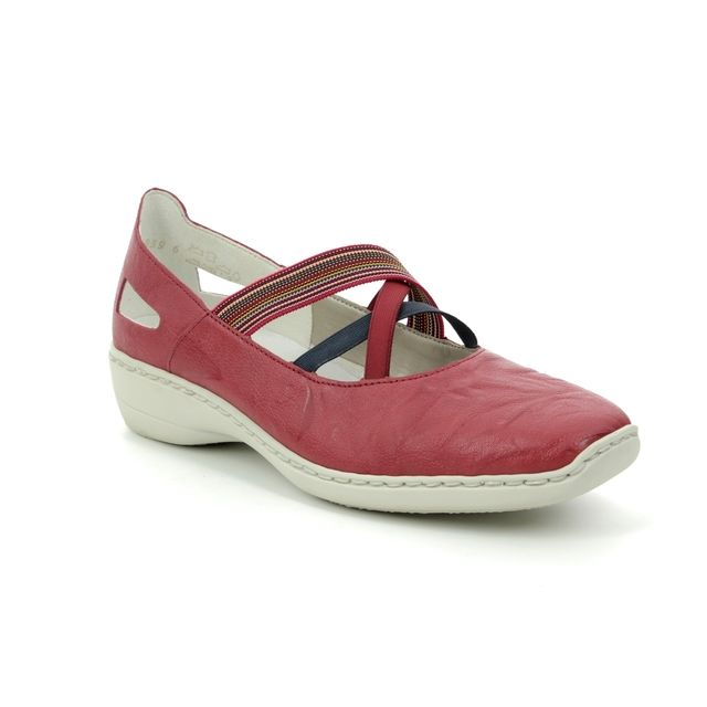 Rieker Mary Jane Shoes - Red - 413J8-33 DORISFUN