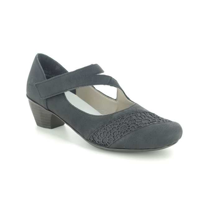Rieker Mary Jane Shoes - Black - 41742-00 SARMICA