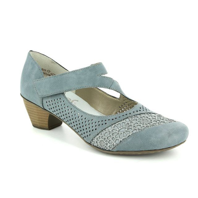 Rieker 41743-12 Denim blue heeled shoes