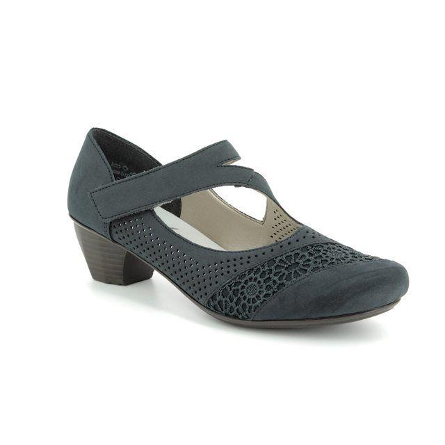 Rieker Heeled Shoes - Navy - 41743-14 SARMICA