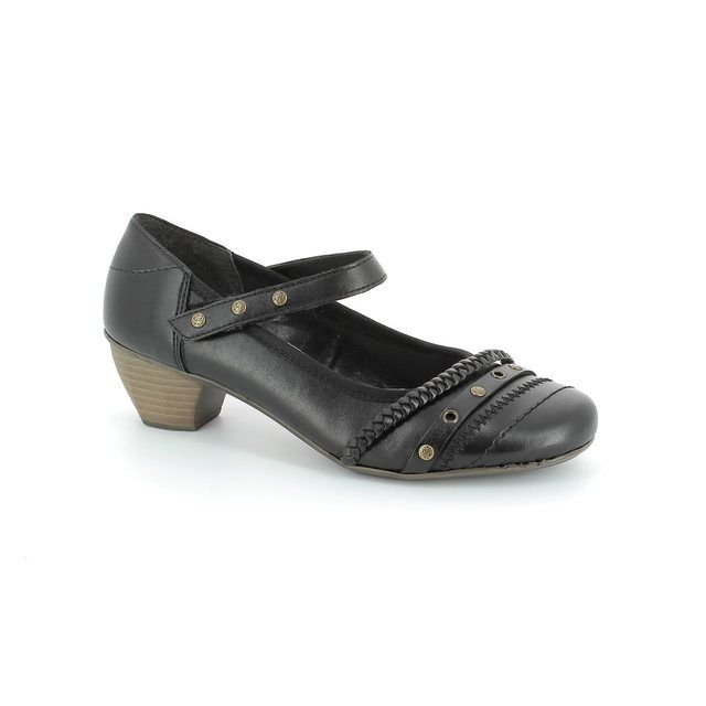 Rieker 41749-00 Black heeled shoes