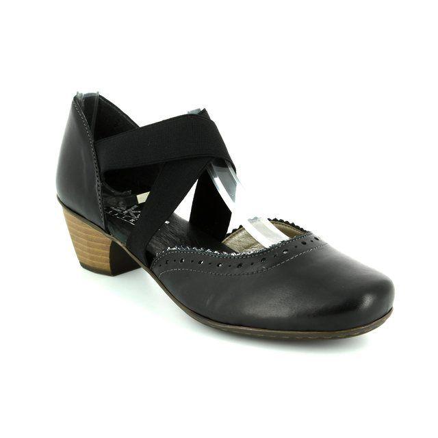 Rieker Heeled Shoes - Black multi - 41753-00 SARJAM