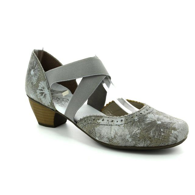 Rieker 41753-90 Taupe multi heeled shoes