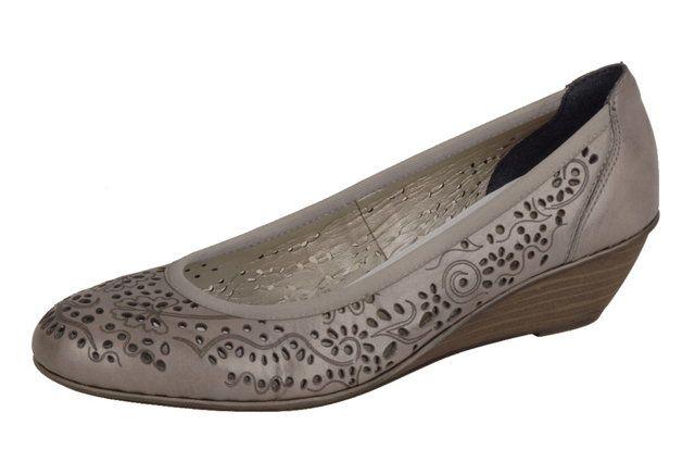 Rieker 43265-42 Taupe heeled shoes