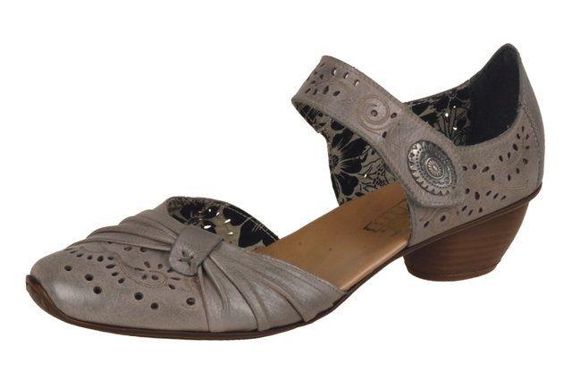 Rieker 43705-40 Grey heeled shoes