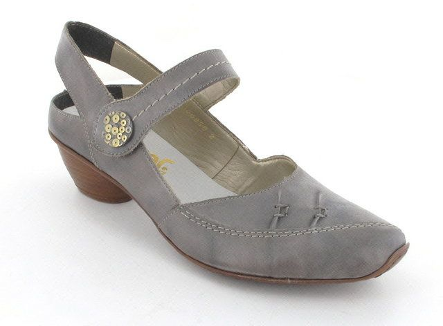 Rieker 43752-40 Light Grey heeled shoes