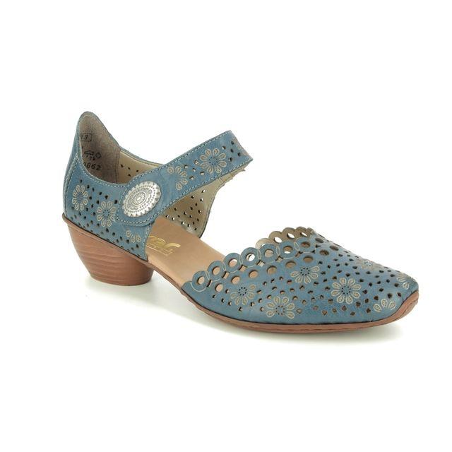 Rieker Comfort Slip On Shoes - Denim leather - 43753-12 MIRCIRCLE