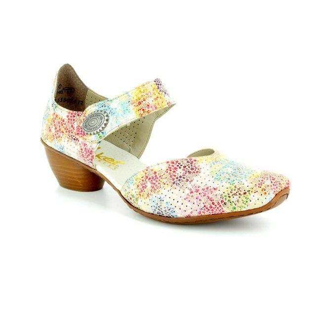 Rieker Comfort Shoes - Floral print - 43754-90 MIROPO