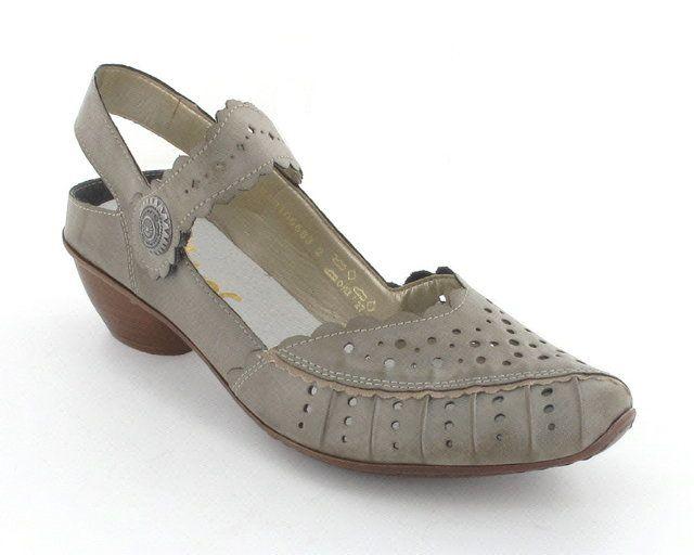 Rieker 43770-42 Light taupe heeled shoes