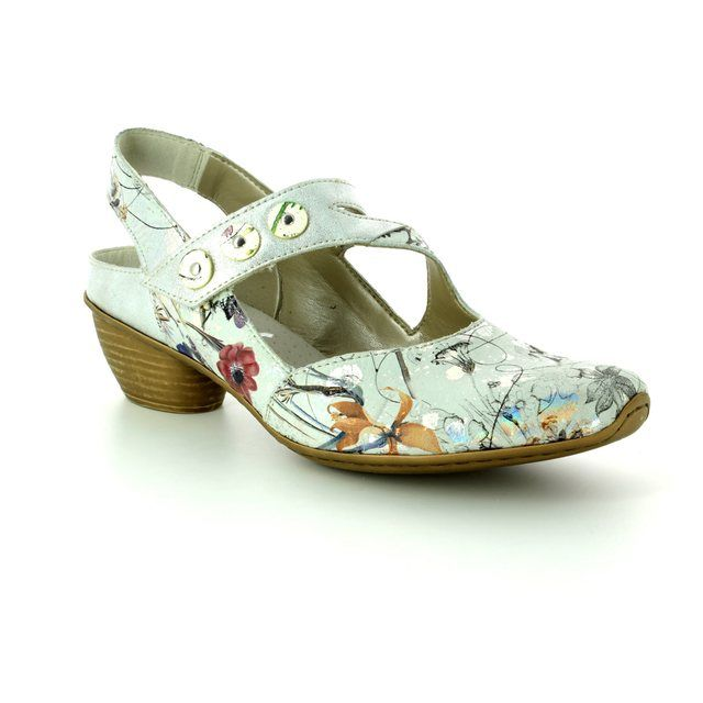 Rieker Comfort Shoes - Floral print - 43771-90 MIROFA