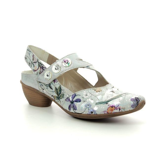 Rieker Comfort Slip On Shoes - Floral print - 43771-90 MIROFA