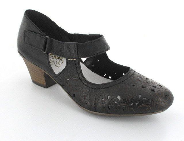 Rieker 45077-00 Black heeled shoes
