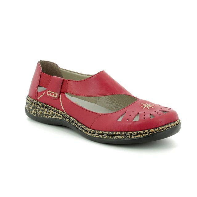 Rieker Mary Jane Shoes - Red - 46315-33 DAISROTO