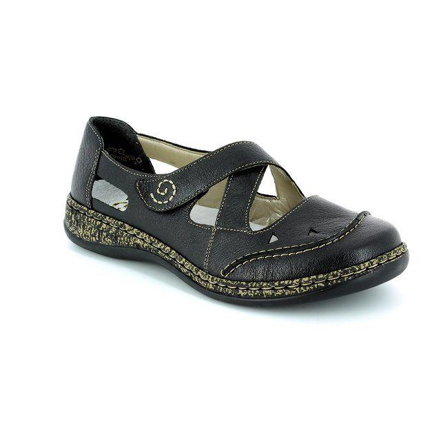 Rieker Comfort Shoes - Black - 46335-00 DAISBACK