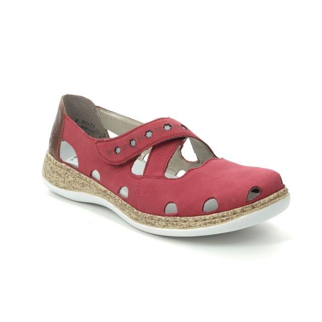 Rieker Mary Jane Shoes - Red Tan - 46356-33 DAISDOLY