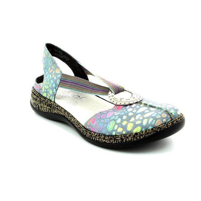Rieker 46362-10 Blue lacing shoes