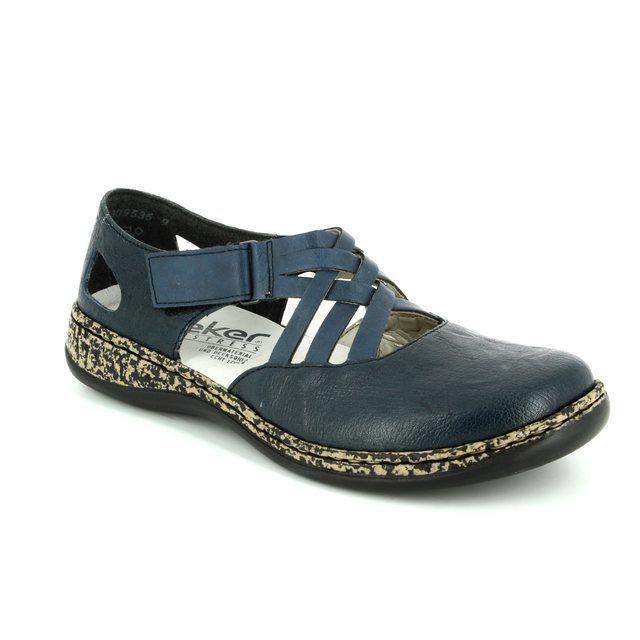 Rieker Comfort Shoes - Navy - 46363-14 DAISCROSS