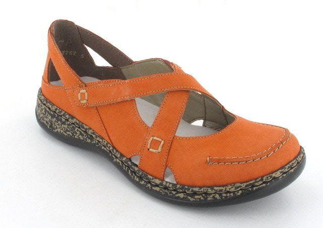 Rieker 46363-38 Orange lacing shoes