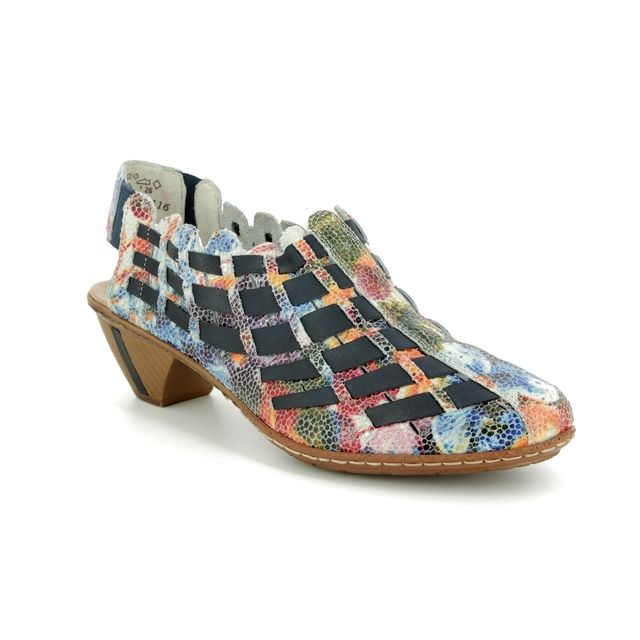 Rieker 46778-91 Floral print Comfort Slip On Shoes