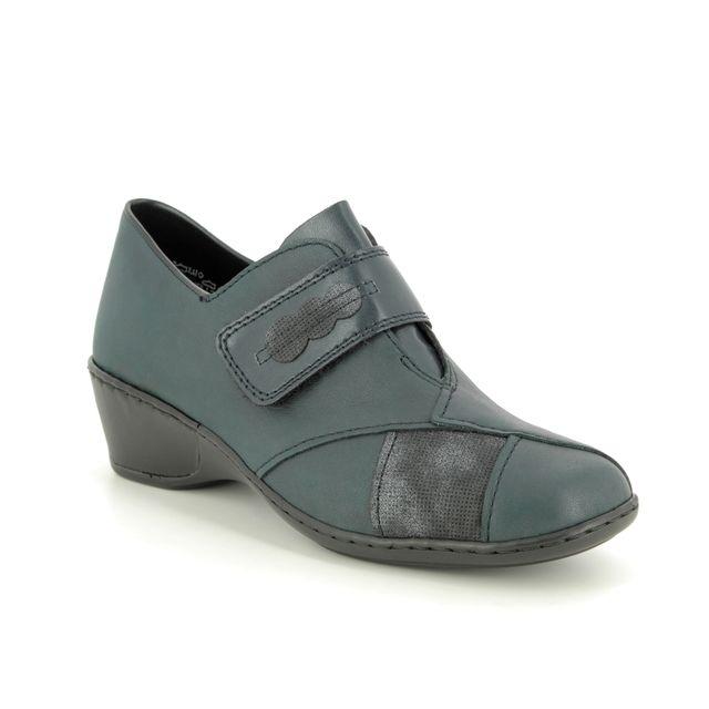 Rieker Comfort Shoes - Navy leather - 47152-14 MORVEL