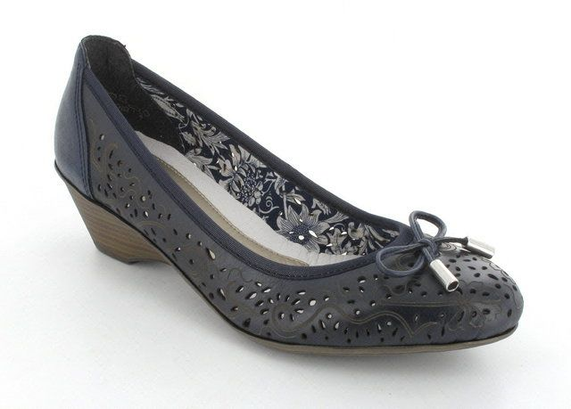 Rieker 49256-14 Navy heeled shoes