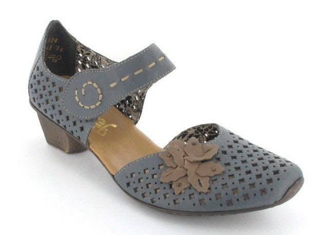 Rieker 49759-14 Blue multi heeled shoes