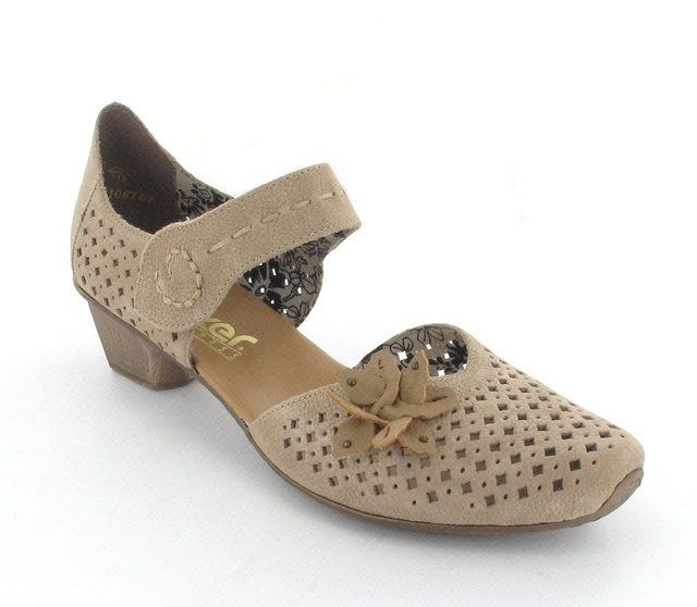 Rieker 49759-64 Taupe multi heeled shoes