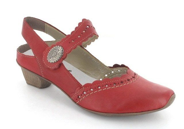 Rieker 49765-33 Red heeled shoes