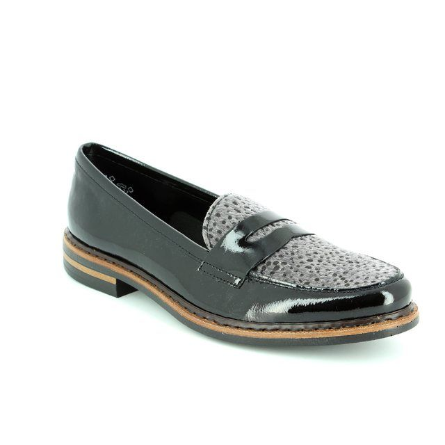 Rieker Loafers - Black multi patent - 50662-01 GRIFFIN