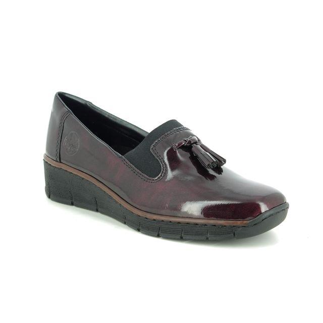 Rieker Comfort Slip On Shoes - Wine patent - 53751-35 BOCCILACK