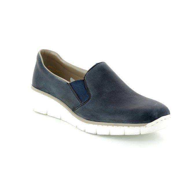 Rieker Comfort Shoes - Blue - 53766-12 BOCCIAGO
