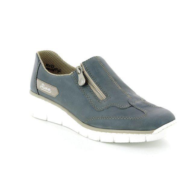 Rieker Comfort Shoes - Blue - 53773-12 BOCCIZIP