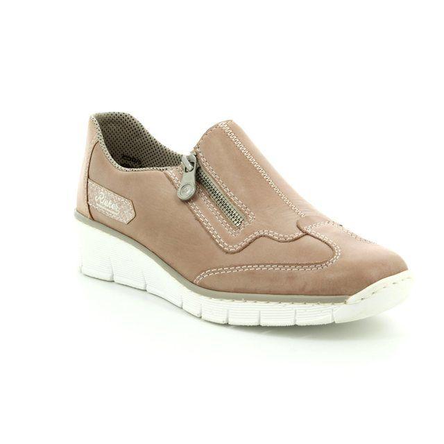 Rieker Comfort Shoes - Pink - 53773-31 BOCCIZIP