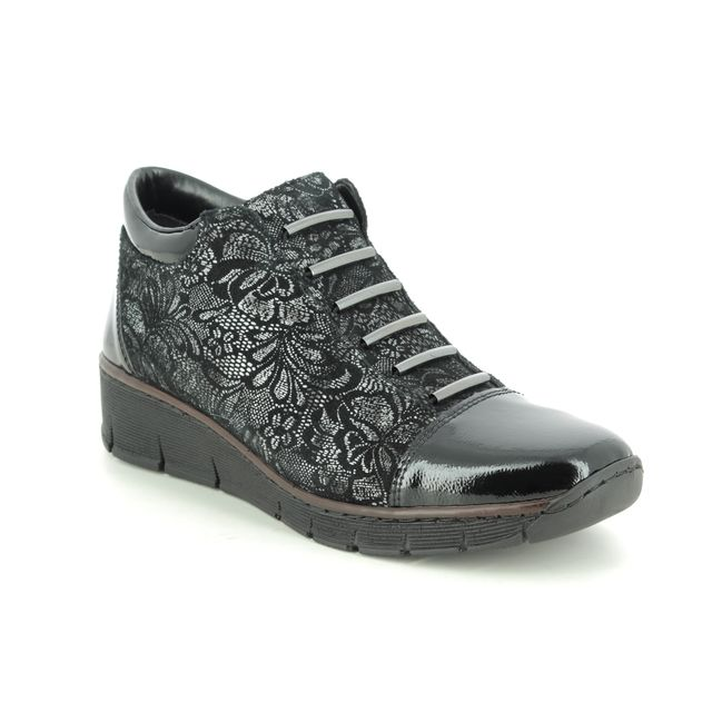 Rieker Ankle Boots - Black Patent - 53778-00 BOCCIBOCA
