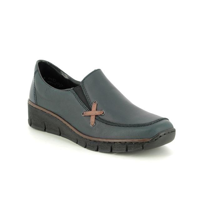 Rieker Comfort Slip On Shoes - Navy - 53783-14 BOCCICRO