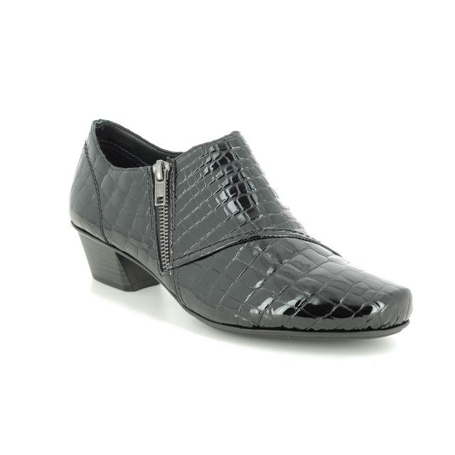 Rieker Shoe-boots - Black croc - 53851-01 MIROTTA