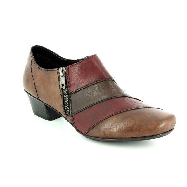 Rieker Shoe-boots - Brown multi - 53852-25 MIROMIX
