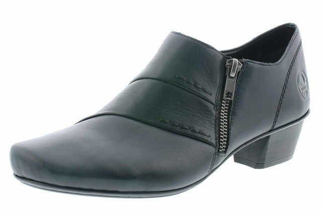 Rieker 53870-14 Navy leather shoe-boots