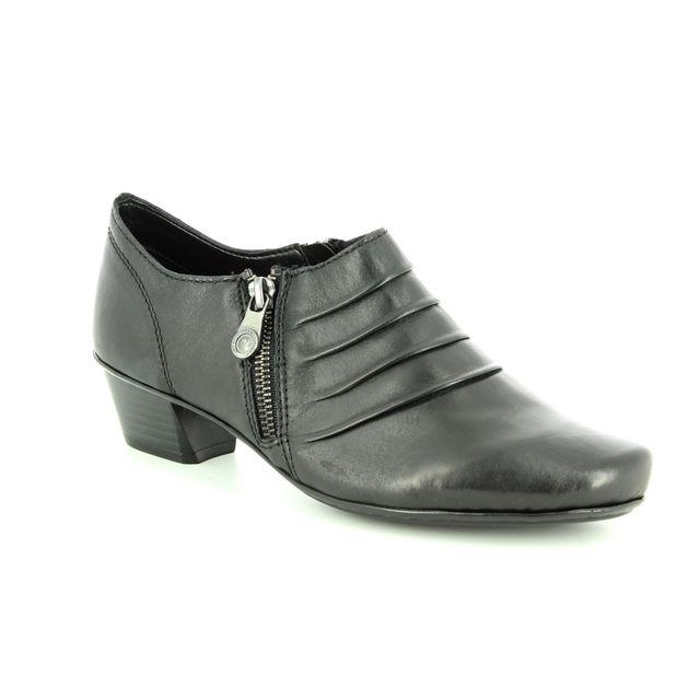 Rieker Shoe-boots - Black leather - 53871-01 MIRZIP