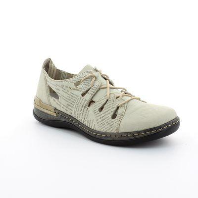 Rieker 54007-60 Beige multi lacing shoes