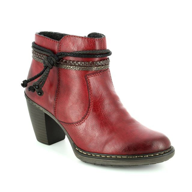 Rieker Ankle Boots - Wine - 55298-35 SALANOT