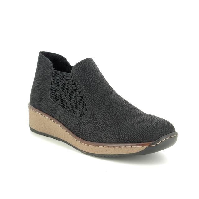 Rieker Chelsea Boots - Black - 56490-00 EMBOCHE