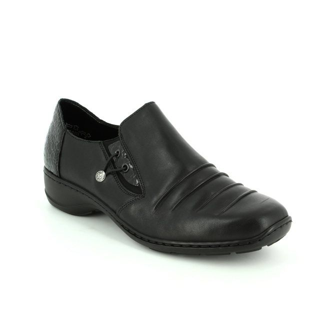 Rieker Comfort Shoes - Black patent - 58353-01 DORWIN