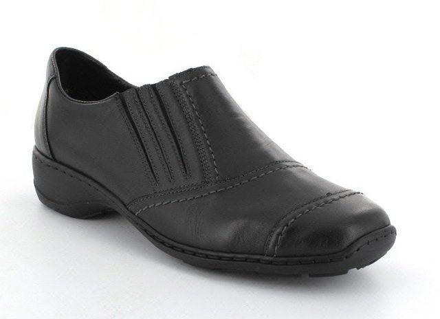Rieker 58378-00 Black comfort shoes