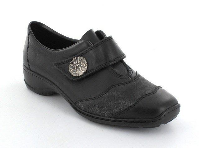 Rieker 58398-00 Black multi comfort shoes